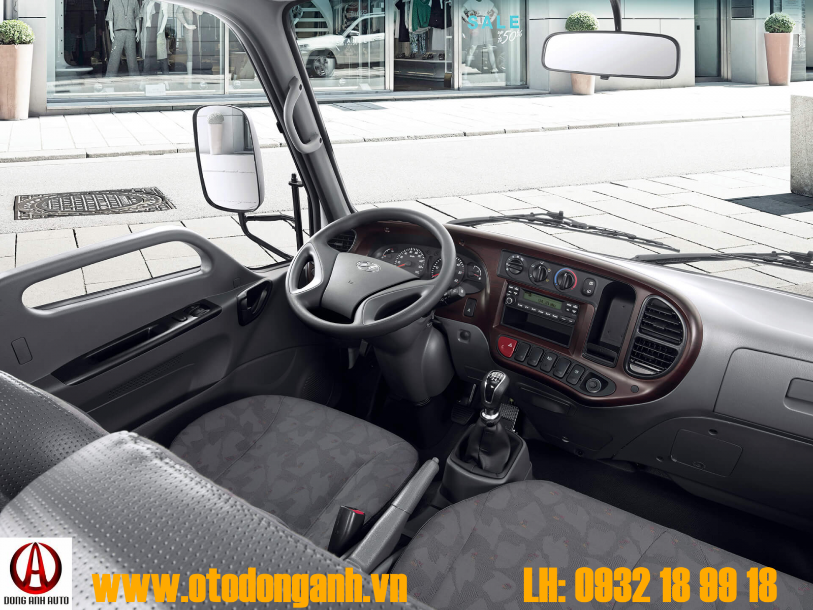 Xe Tải Hyundai N250 - 1T9 Thùng Bạt Bửng Nâng