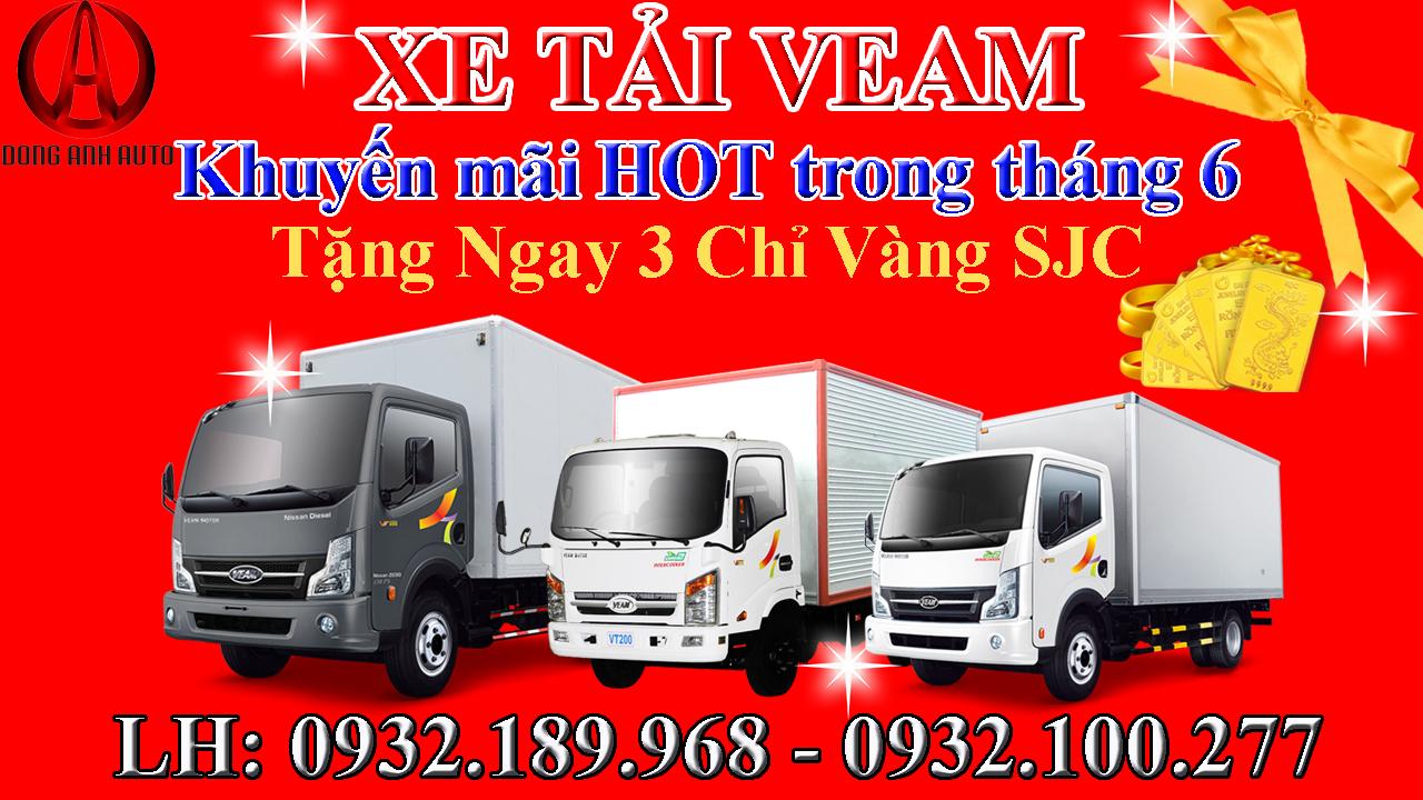 Xe tải Veam Khuyến mãi HOT trong tháng 6 xem ngay!